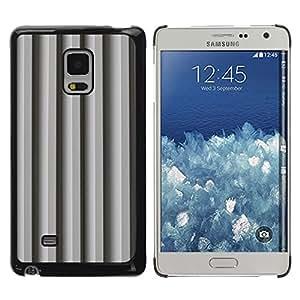 TopCaseStore / la caja del caucho duro de la cubierta de protección de la piel - Gray Lines Shadow Pattern - Samsung Galaxy Mega 5.8 9150 9152