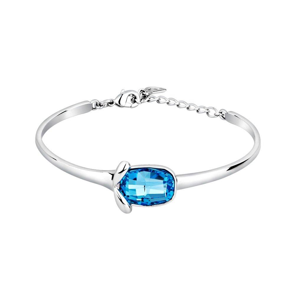 Amazon.com  Blue Pearls - Blue Swarovski Crystal Elements Bangle Bracelet -  CRY E130 J CRY E130 J  Jewelry 052708d05