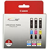 Canon CLI-251XL 3PK 3-Ink Value Pack for Canon Photo Papers