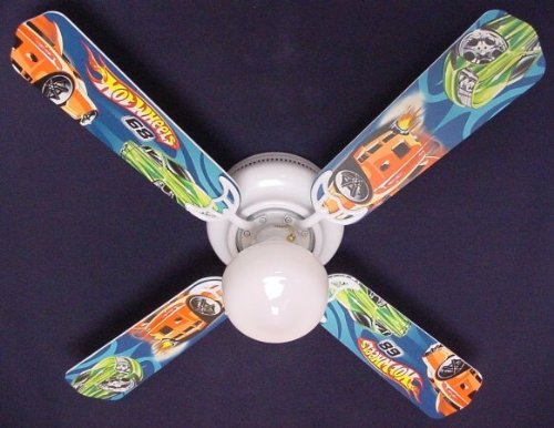 Ceiling Fan Designers Ceiling Fan, Hot Wheels, (Designer Hugger Fan)