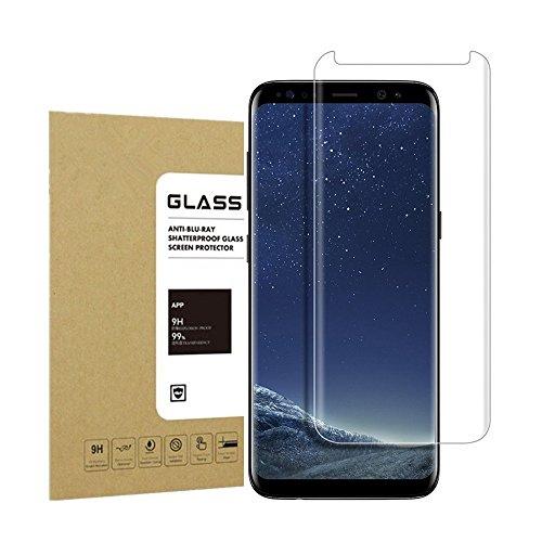 Galaxy S8 Panzerglas Schutzfolie Acoverbest [Full HD] [Einfache Installation] [Anti-Fingerabdruck] 9H Härtegrad Displayschutzfolie Schutzfolie Schutzglas Für Samsung Galaxy S8