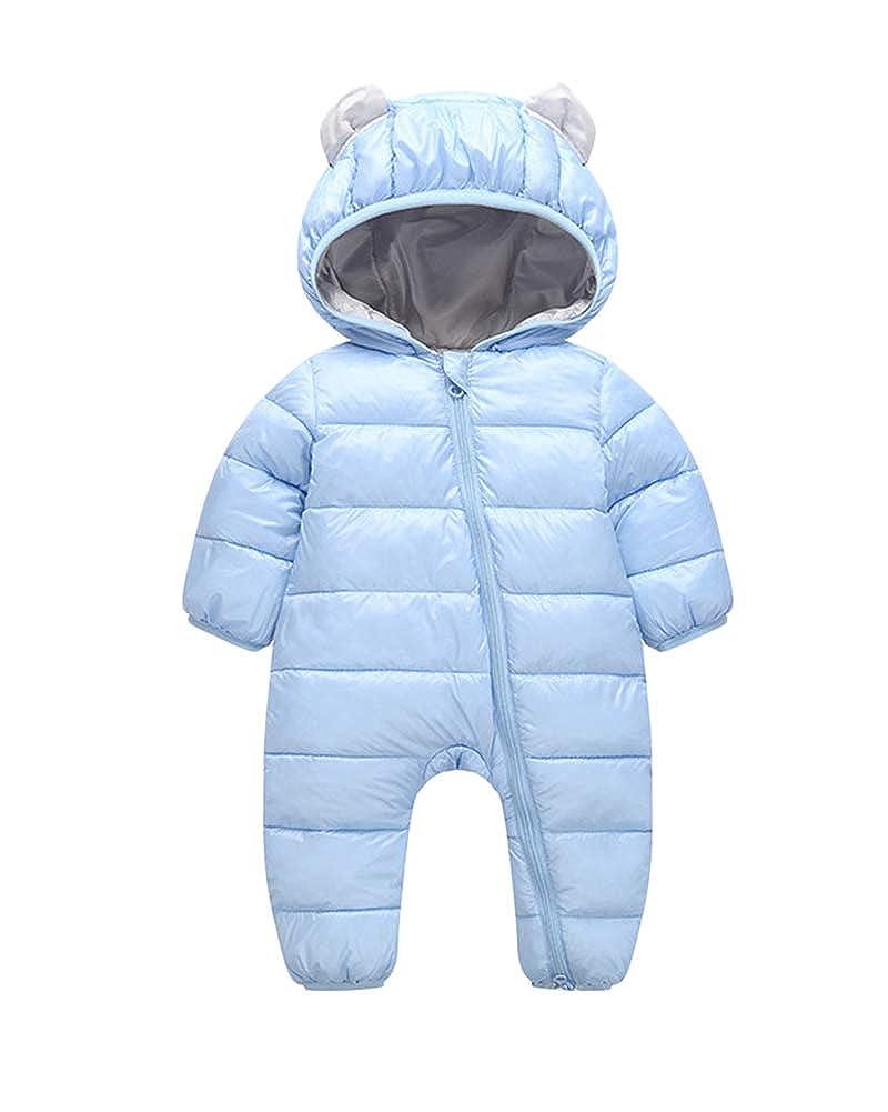 Baby Neugeborenes Schneeanzüge Winter Overall Mit Kapuze Mädchen Jungen Strampler Jumpsuit