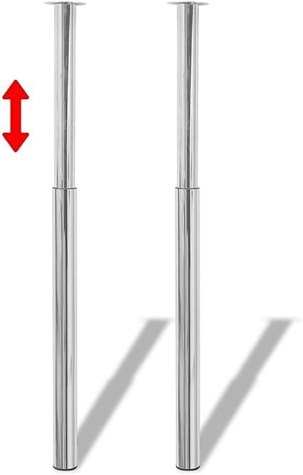 Gambe Allungabili Per Tavoli.2 Gambe Telescopiche Per Tavolo 710 Mm 1100 Mm Colore Cromato Amazon It Fai Da Te
