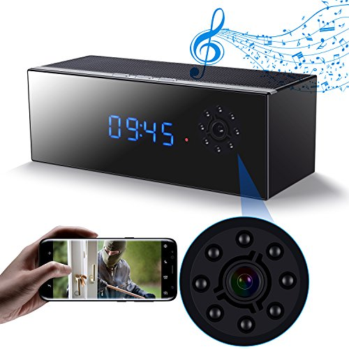 Wireless Music Hidden Camera Speaker, WiFi HD 1080P Camera C