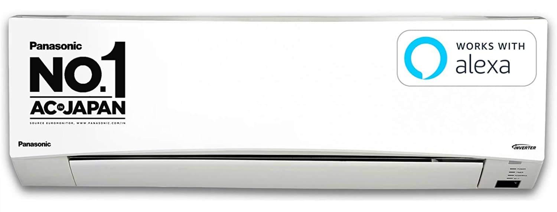 Panasonic 1 Ton 5 Star Wi-Fi Inverter Split Air Conditioner (Copper, PM 2.5 Filter, 2021 Model, CS/CU-NU12XKYW, White)