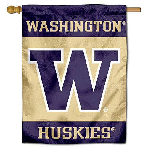 College Flags and Banners Co. Washington Huskies Banner House Flag ()