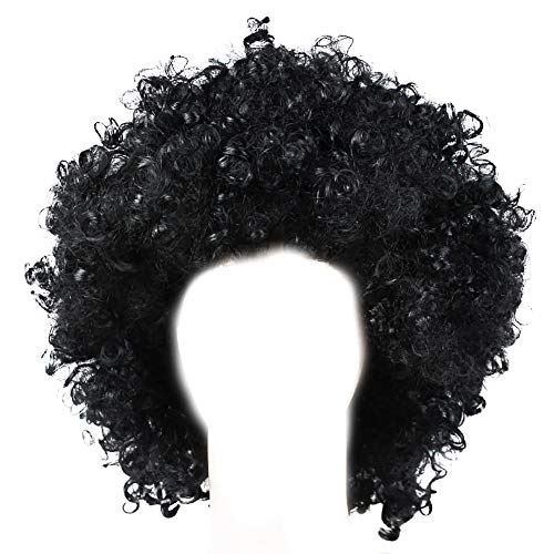 NiceWave 1 Christmas Halloween Hairstyle Explosion Head Adult (Black)