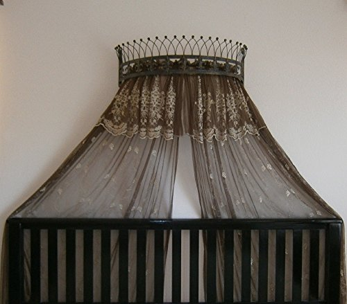 Metal Crown Wall Sculptures Teester Bed Canopy Drapery Hardware Over Bed or Window (Bronze(31.5