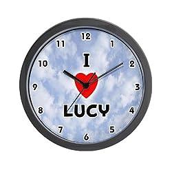 I Love Lucy Black Valentine Wall Clock