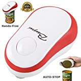 BangRui Automatic Can Opener Electric One Touch Can Opener Soft Edge with Assistive Auto-Stop (Red)