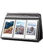 96 Pockets Desk Calendar Album for Fujifilm Instax Mini Camera, Polaroid Camera, for Instax Mini 11 90 70 9 8+ 8 LiPlay Camera, Polaroid Snap Z2300 Instant Cameras, for Home Office Desk Decor (Black)