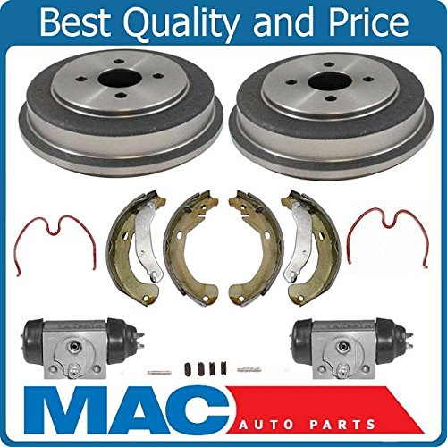 100% New Drums Brake Shoes Springs Wheel Cylinders for Chevrolet Cobalt 05-08 ()