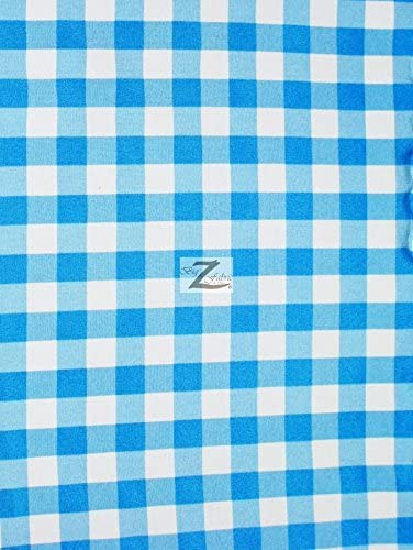 """57/""""//59/"""" SOLD BTY CHECKERED GINGHAM POLY COTTON PRINTED FABRIC Hunter Green"""