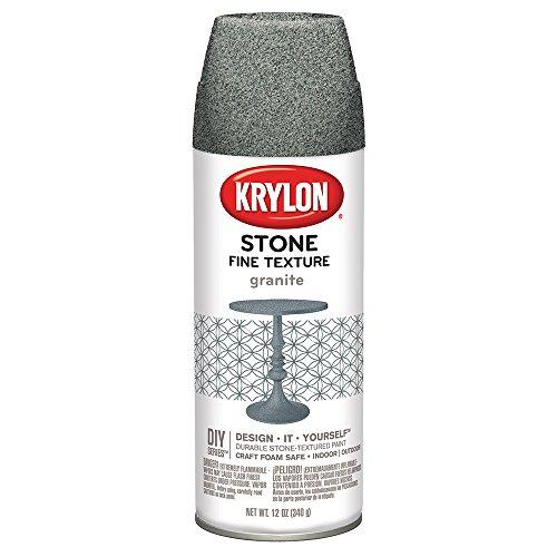 Krylon K03700000 Fine Stone Textured Finish, - Grey Granite Finish