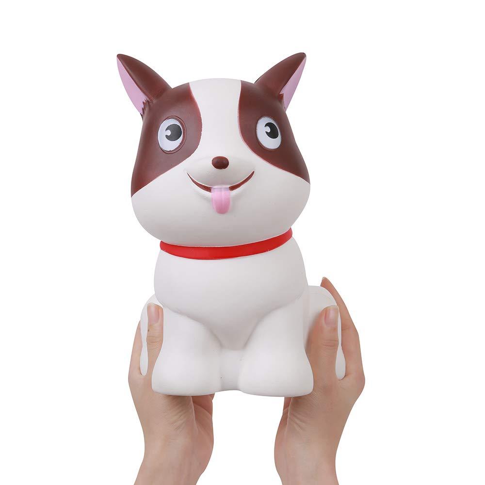 Anboor 5.5インチ スクイッシー ジャンボ 犬 ゆっくり膨らむ かわいい 香り付き ソフト 巨大 動物 スクイッシー ストレス解消 子供のおもちゃ   B07QQYBRM9