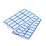 YeahiBaby Adhesive Labels Sticker Paper Price Name Handwritten for Office Shop Store 210pcs (Blue)