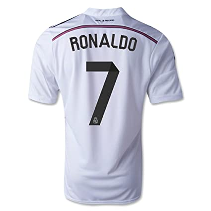 701ae9e0b34 Amazon.com : Adidas Real Madrid Home 2014/15 Jersey with Ronaldo 7 ...
