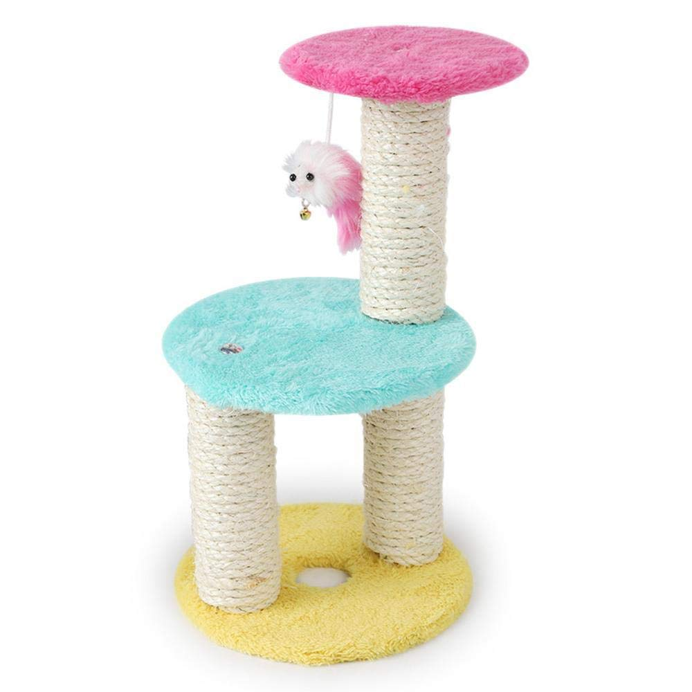 Cat Furniture Play Towers and Trees Cat Climbing Frame Three-Column Three-Layer disc cat Grab Column for Game 15cm 7cm  20cm