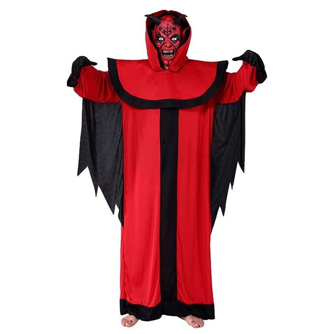 YuanDian Halloween Hombre Disfraces De Vampiro Dracula Capa ...
