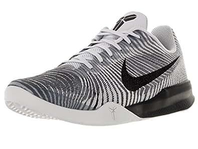 Nike Men's KB Mentality II White/Black/Wolf Grey Basketball Shoe 9.5 Men US