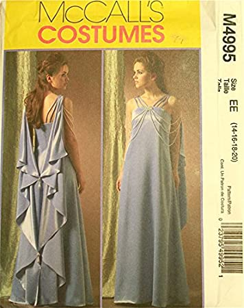Amazon.com: Padme Amidala, Evening Gown, Star Wars Costume Pattern ...