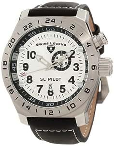 Swiss Legend Men's 22827-02S SL Pilot Silver Dial GMT Watch