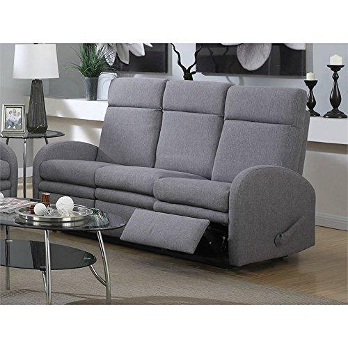 - Acme Azura Linen Reclining Sofa with Motion in Gray