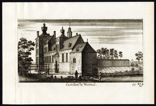 antique-print-westmalle-castle-belgium-le-roy-1678