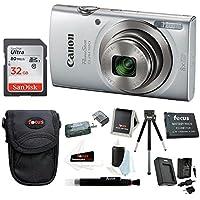 Canon PowerShot ELPH 180 20 MP Digital Camera (Silver) +...