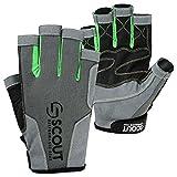 New Sailing Gloves Kayak Yachting Rope Dinghy Fishing Waterski Sports Dexter Series Green (Medium(7.5'-8.5'))