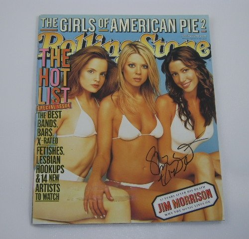 American Pie Sexy Shannon Elizabeth Signed Autographed R.S. Magazine Loa