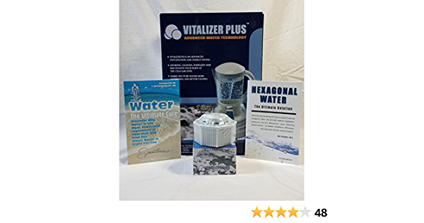 Alkaline Ionizer Vitalizer Plus Hexagonal Oxygen Water Maker w// 2 Mineral Cube