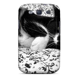 Galaxy High Quality Tpu Case/ Cat Black CNtJkqK5418LGLhR Case Cover For Galaxy S3