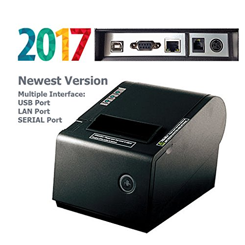 PBM POS P-822D 3 1/8'' Thermal Receipt USB Port SERIAL Port LAN Port Printer 2017 Newest Version Multiple Interface by Digital Life Deal