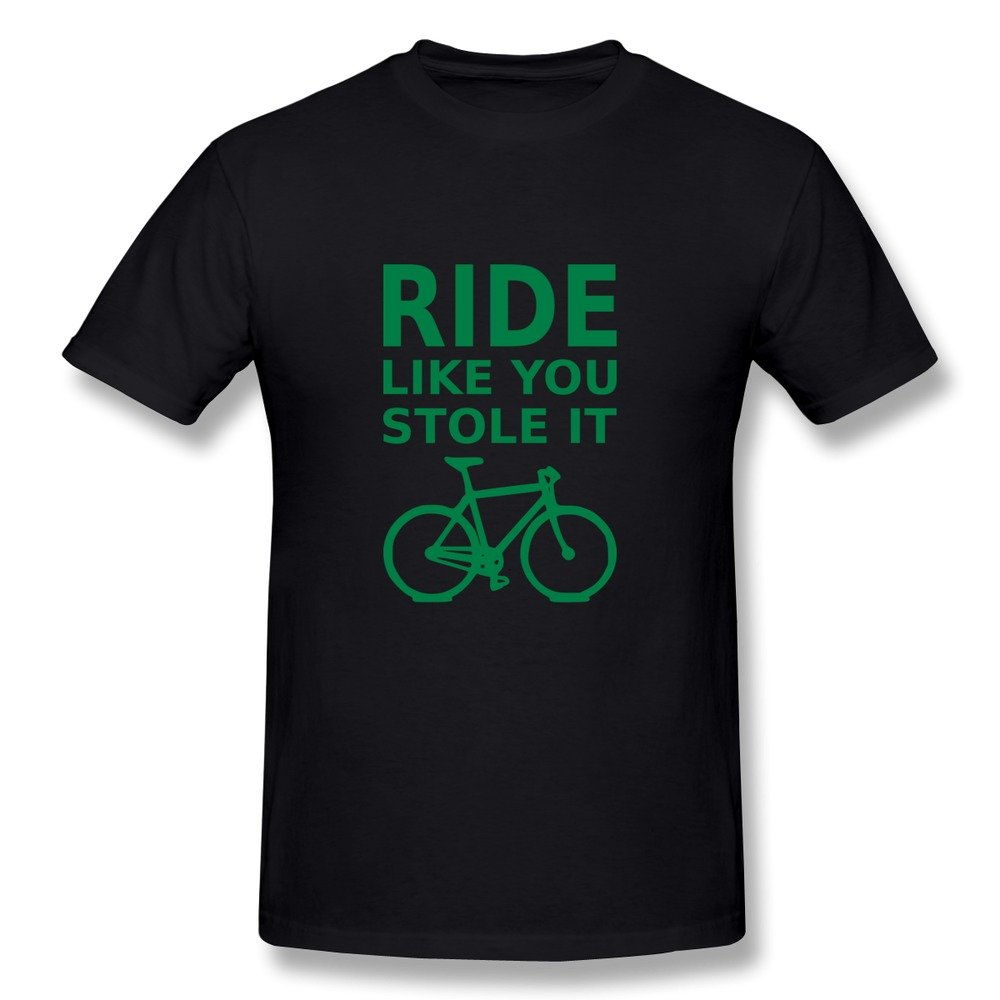 Design Men's Tshirts Classical Ride Like Stole It Bicycle Size XXL ...