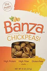 Amazon.com : Banza | Gluten Free Pasta-Shells Chickpea 8 ...