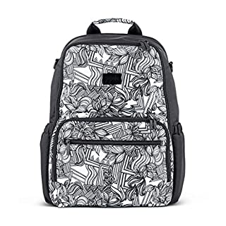 JuJuBe Zealous Backpack | Lightweight, Travel-Friendly, Stylish Diaper Bag, Multi Functional Backpack Purse for Kids and Adults, Casual Daypack | Changing Pad Included | Sketch