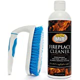 Quick N Brite 51030 Fireplace Gel Kit with Scrub Brush- 16 fl. oz, Heavy Duty, Cleans Fireplace Brick, Stone, Tile, Rock, Removes Soot, Smoke, Creosote and Ash, No Acids
