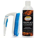 quick n brite cleaner - Quick N Brite 51030 16 Oz Fireplace Gel Kit with Scrub Brush