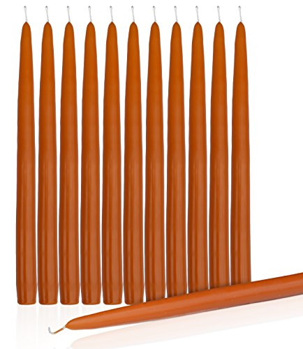 Taper Candles Orange (Orange Dripless Taper Candles 8