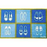 Floortex FR4ER2030SS Doortex Printed Indoor Entrance Runner, Rectangular, Shoes (Short), 20-Inchx30-Inch