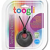 Baby Teething Necklace For Mom by Toogli. Fashionable Nursing Necklace For Mom to Wear. FREE Bonus Teething Guide. BPA Free - Lifetime No-Hassle Satisfaction Guarantee - (Smoky Black)