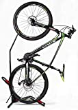 Hasit Bike Floor Stand Bike Rack Stand for Vertical/Horizontal Indoor Mountain Bike,Road Bike Storage - Space Saving - No Need to Damage Wall Black