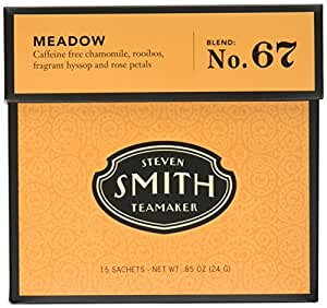 Smith Teamaker Meadow Blend No. 67 large cut herbal infusion, 15 Count, 0.85 Ounce