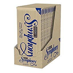 SYMPHONY XL Creamy Milk Chocolate, Almonds and Toffee Chips, (4.25-Ounce Bar, Pack of 12)