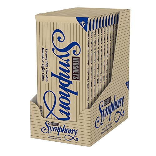 HERSHEY'S Symphony Chocolate Candy Bar with Almonds and Toffee, Extra Large (Pack of - Chocolate Bars Toffee Almond