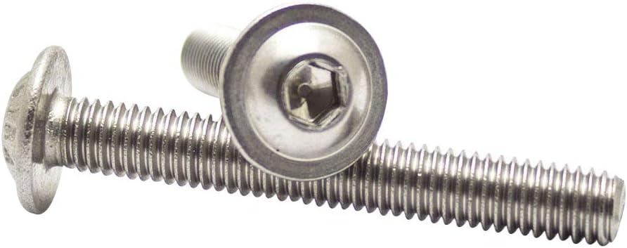 100/pezzi a testa bombata Viti M4/x 10//10/con esagono incassato ISO 7380/Acciaio Inox A2