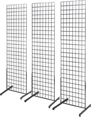 2 X 6 Grid Wall Panel Floorstanding Display Fixture With