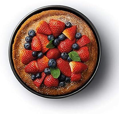 Kitchen Craft Molde Tarta Redondo Desmontable, Acero, Negro ...