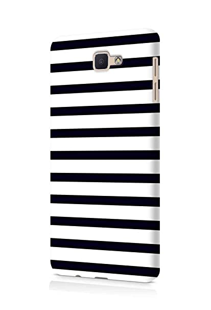 best cheap 608a2 609c0 Cover Affair Stripes Printed Designer Slim Light Weight Back Cover Case  Compatible with Samsung Galaxy J7 Prime (Black & White) (G3-D174)